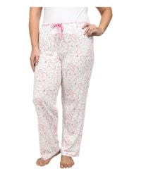 Carole Hochman | Pink Plus Size Printed Long Sleeve Pajama | Lyst