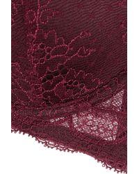 Stella McCartney - Purple Minnie Sipping Lace, Stretch-Silk And Point D'Esprit Contour Bra - Lyst