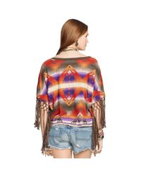 Denim & Supply Ralph Lauren - Multicolor Fringed Dropped-Shoulder Tee - Lyst