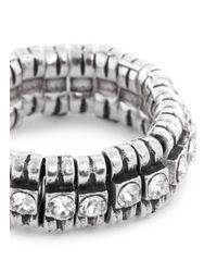Philippe Audibert | Metallic 'new Broome' Rhinestone Elastic Ring | Lyst