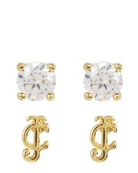 Juicy Couture | Metallic Jc Charm School Earring Set | Lyst