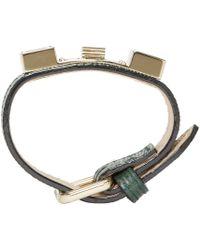Proenza Schouler - Green Leather Ps11 Wrap Bracelet - Lyst