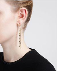 Natasha Collis Metallic 18 K Gold And Black Diamond Waterfall Earrings