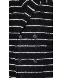 Band of Outsiders - Black Double Breasted Reefer Coat for Men - Lyst