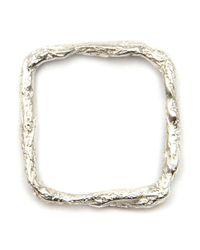 Niza Huang | Metallic 'illusion Square' Ring | Lyst