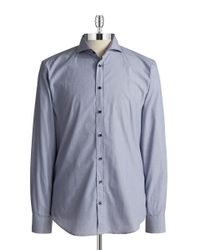 Bugatti | Gray Micro Stripe Sportshirt for Men | Lyst