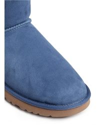 UGG Blue 'mini Bailey Button' Boots
