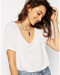 ASOS | Blue Shard Choker Necklace | Lyst