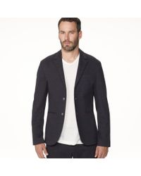 James Perse - Blue Knit Tailored Italian Suit Jacket for Men - Lyst