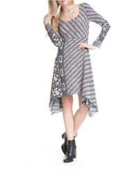 Plenty by Tracy Reese | Gray Scarf Hem Midi Dress | Lyst