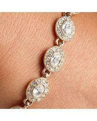 Carolee - Metallic Crystal Set Gold Toned Link Bracelet - Lyst