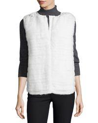 Moncler - White Mink Fur Vest W/quilted Back - Lyst