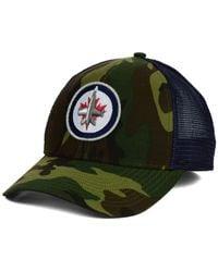 Reebok | Green Winnipeg Jets Camo Trucker Cap for Men | Lyst