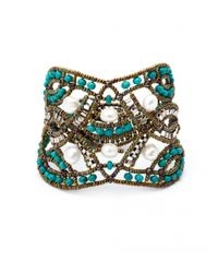 Ziio Blue Net Multi-Beaded Bracelet