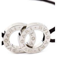 BVLGARI | Brown Interlocking Logo Bracelet | Lyst