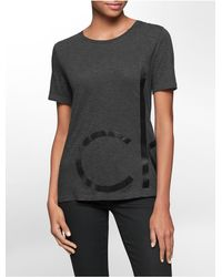 Calvin Klein | Gray Jeans Bold Oversized Logo Heathered T-shirt | Lyst