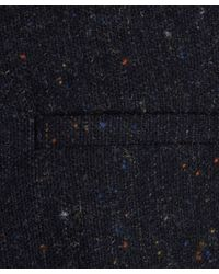 2nd Day Blue Navy Boucle Wool Speckled Remi Trousers