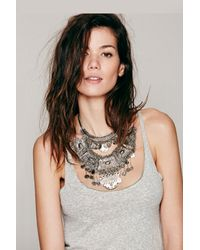 Free People | Metallic Goldbarr Womens Tulum Statement Collar | Lyst
