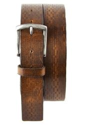 Trafalgar - Brown 'gabe' Leather Belt for Men - Lyst