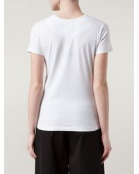 Vivienne Westwood Anglomania - White Logo Embroidered T-Shirt - Lyst