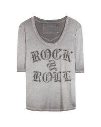 True Religion - Gray Embellished T-shirt - Lyst