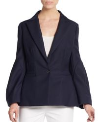 Dior - Blue Bishop-sleeve Blazer - Lyst