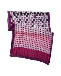 San Diego Hat Company Purple Bss1407 Multi Circle Print Fabric Scarf