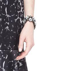 St. John - Metallic Crystal Octagon Link Bracelet - Lyst