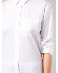 T By Alexander Wang - White Sleeve Tie Shirt Dress - Lyst