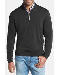 Peter Millar | Gray 'perth' Quarter Zip Pullover for Men | Lyst