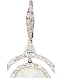 Nina Runsdorf - Metallic Rose Cut Ciamond And Platinum Earrings - Lyst