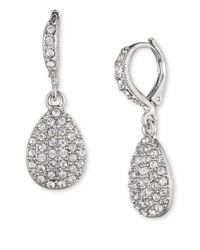 Givenchy | Metallic Pave Teardrop Earrings | Lyst
