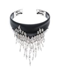 Alexis Bittar - Black Cascading Fringe Hinge Collar Necklace - Lyst