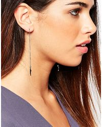 Pilgrim - Metallic Drop Horn Earrings - Lyst