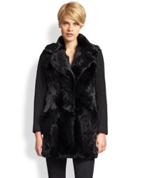 Nanette Lepore - Black Luscious Fur Coat - Lyst
