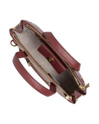 Modalu Purple Phoebe Burgundy Large Saffiano Tote Bag