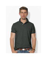 Polo Ralph Lauren | Black Custom-fit Mesh Polo Shirt for Men | Lyst