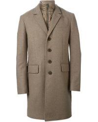 Burberry Brit - Brown Detachable Padded Vest Classic Coat for Men - Lyst