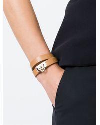 Ferragamo | Brown Gancio Wrap Around Bracelet | Lyst