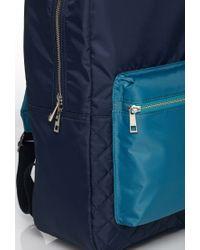 Forever 21 Blue Men Colorblock Quilted Backpack for men