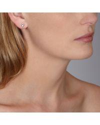Astley Clarke - White Diamond Swirl Stud Earrings - Lyst