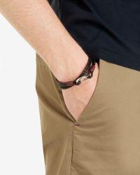 Ted Baker | Black Woven Leather Bracelet for Men | Lyst