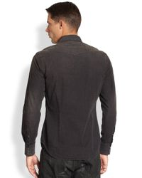 Ralph Lauren Black Label - Black Washed Chambray Western Sportshirt for Men - Lyst