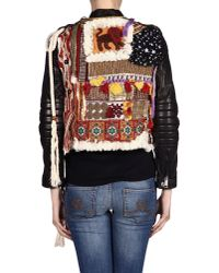 DSquared² - Multicolor Embroidered Hippy Style Leather Jacket - Lyst