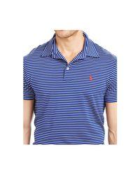Polo Ralph Lauren | Blue Performance Lisle Polo Shirt for Men | Lyst