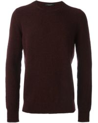 Roberto Collina - Red Crew Neck Sweater for Men - Lyst