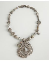Amrapali - Metallic Silver And Diamond Dragon Charm Necklace - Lyst