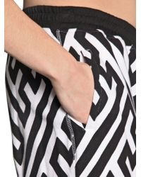 KTZ Black Printed Cotton Jersey Shorts Leggings for men