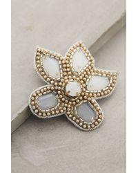 Deepa Gurnani   White Shimmered Fleur Clip   Lyst