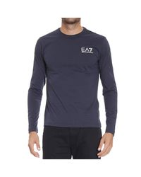 EA7 | Blue T-shirt for Men | Lyst